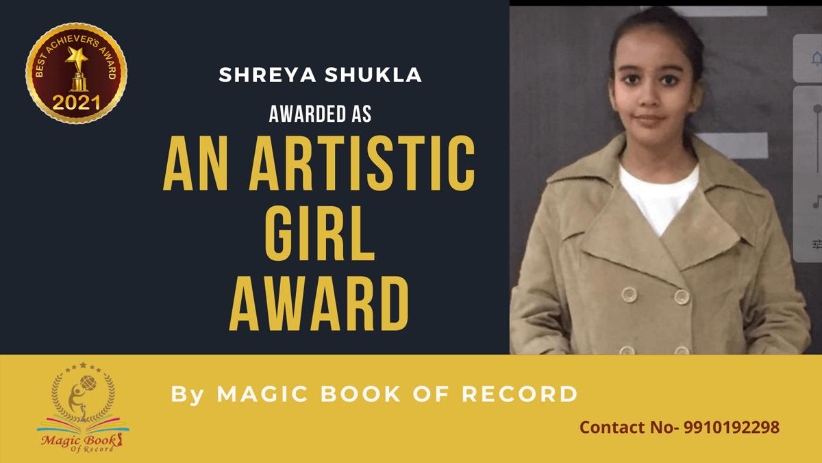 Shreya Shukla-Uttar Pradesh Magic Book of Record