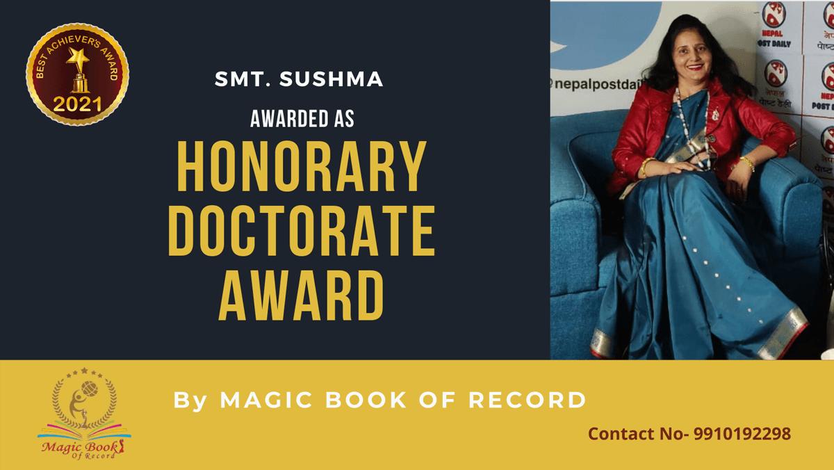 Smt. Sushma-Delhi-Magic Book of Record