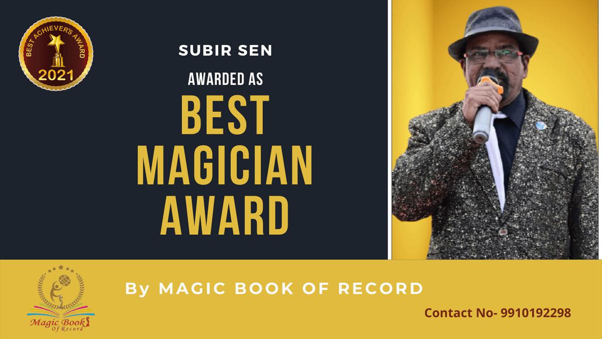 Subir Sen-Chhattisgarh-Magic Book of Record