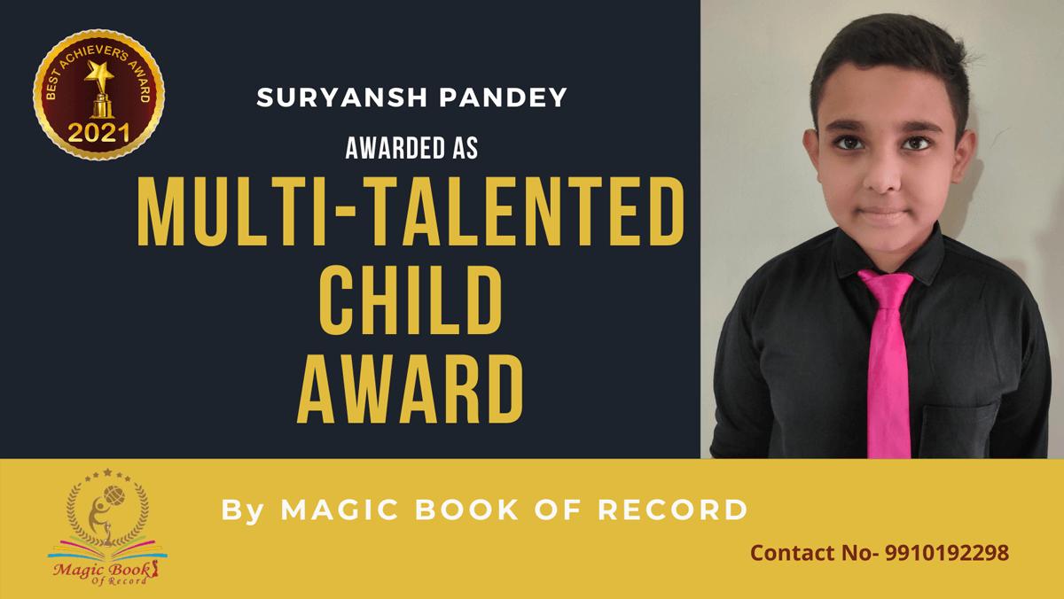 Suryansh Pandey-Delhi-Magic Book of Record