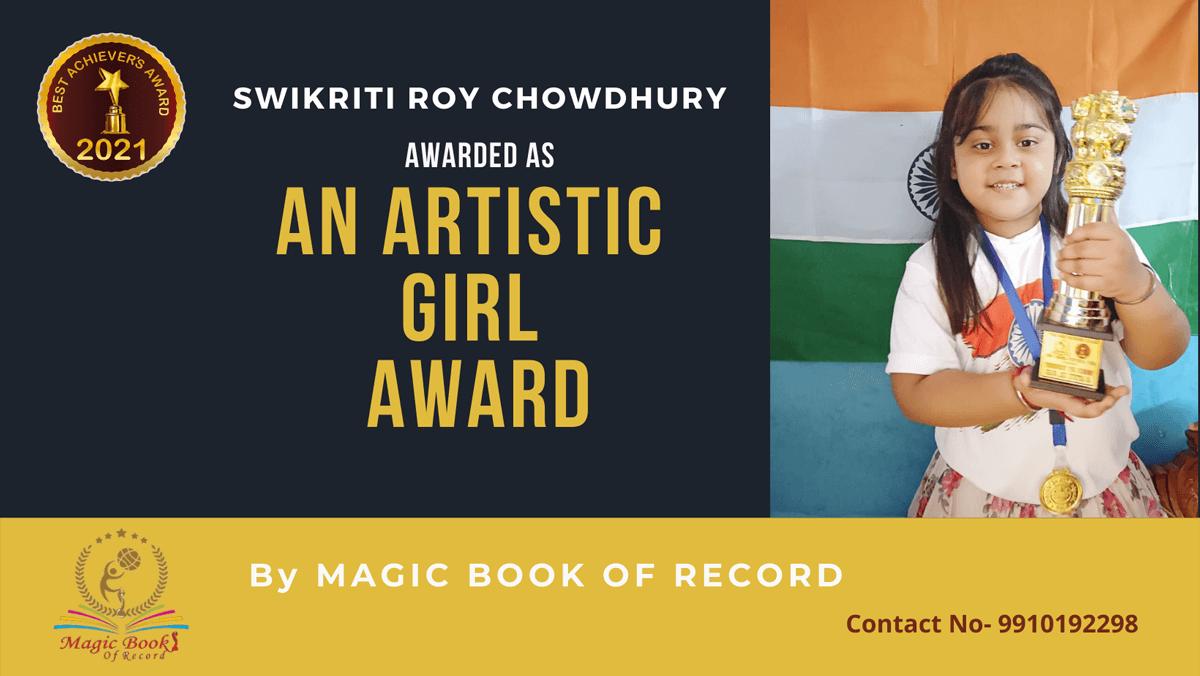 Swikriti Roy Chowdhury-West Bengal-Magic Book of Record