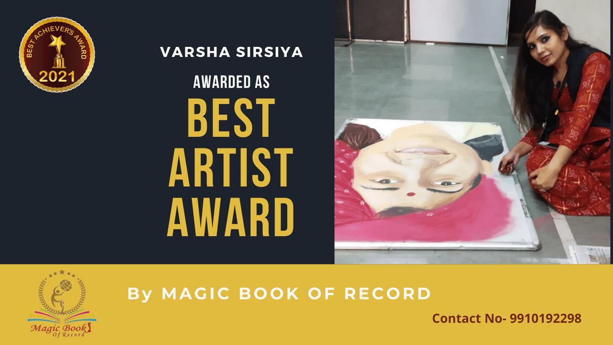 Varsha Sirsiya-Madhya Pradesh-Magic Book of Record