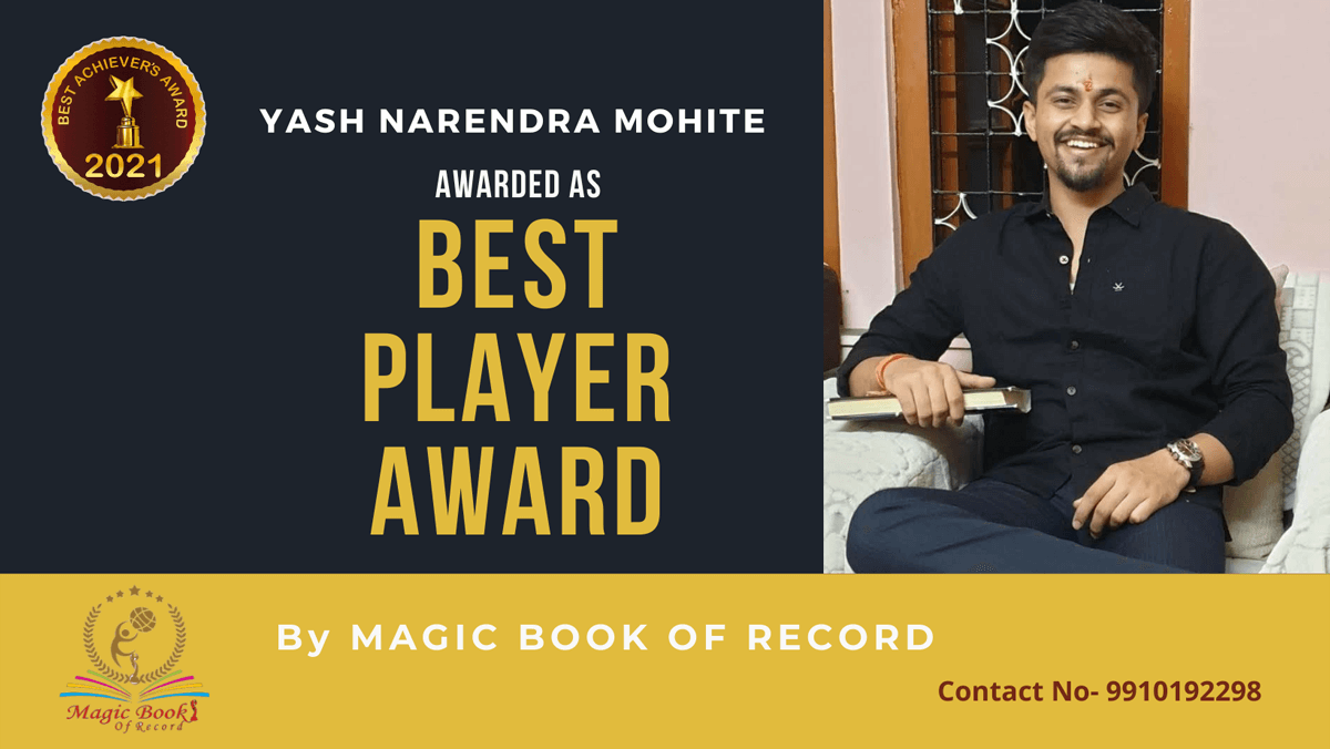 Yash Narendra Mohite-Maharashtra-Magic Book of Record