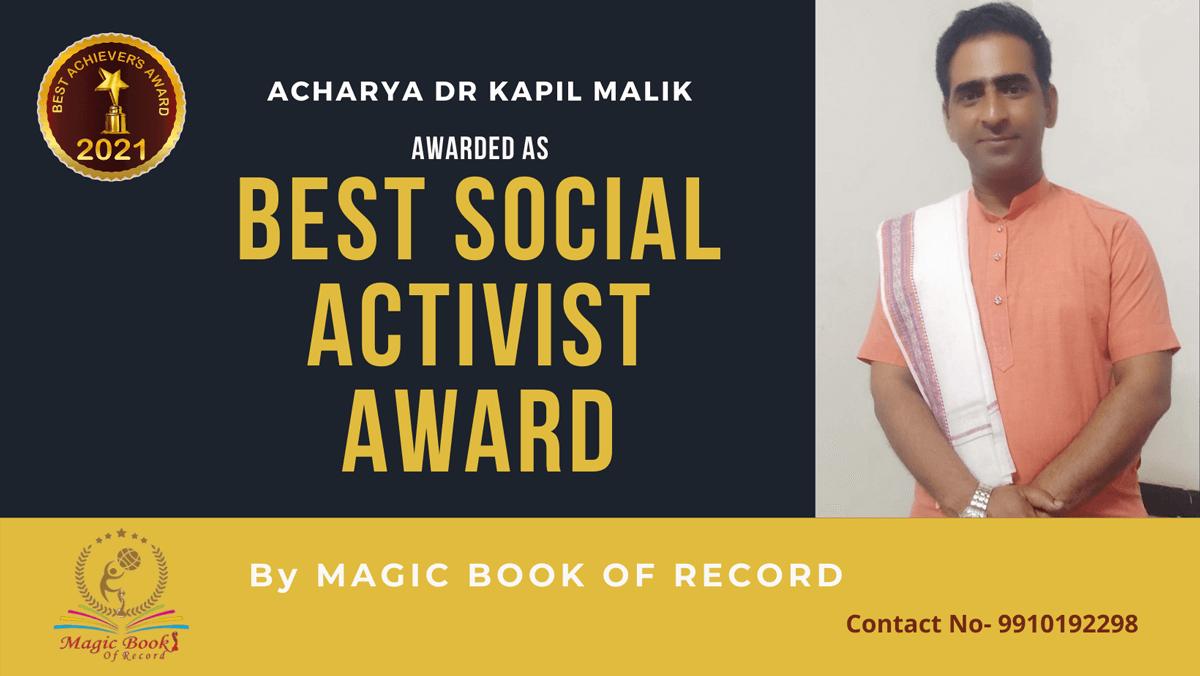 Acharya Dr Kapil Malik-Uttar Pradesh-Magic Book of Record