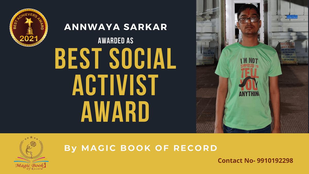 Annwaya Sarkar-West Bengal-Magic Book of Record