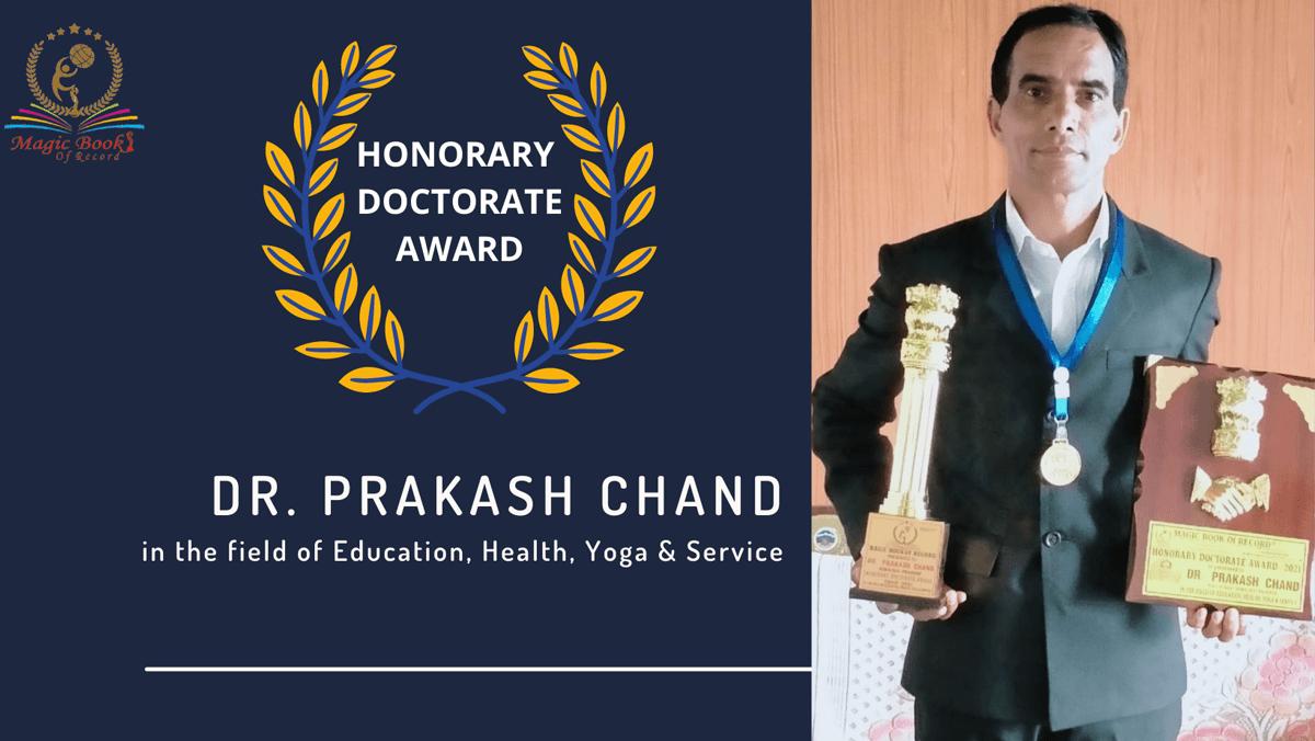 Dr. Prakash Chand-Himachal Pradesh-Magic Book of Record