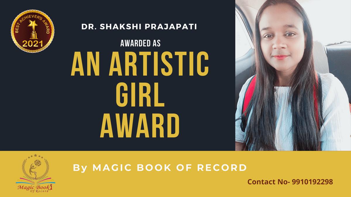 Dr. Shakshi Prajapati-Assam-Magic Book of Record