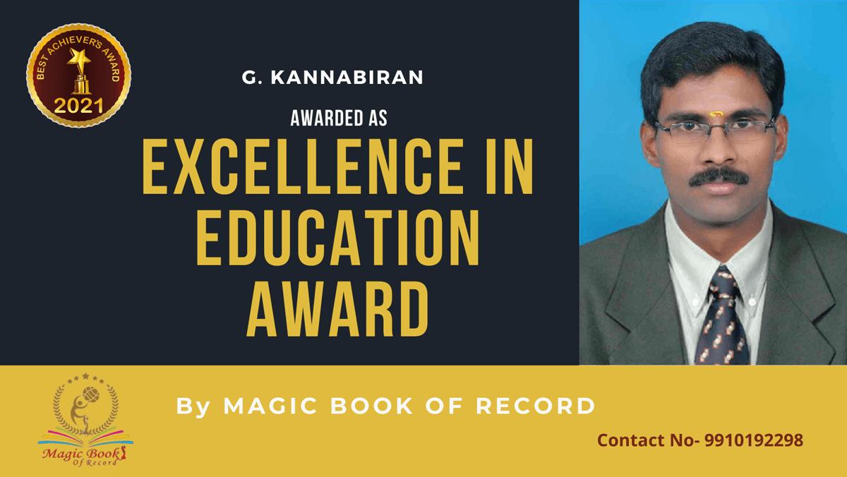 G. Kannabiran-Tamil Nadu-Magic Book of Record