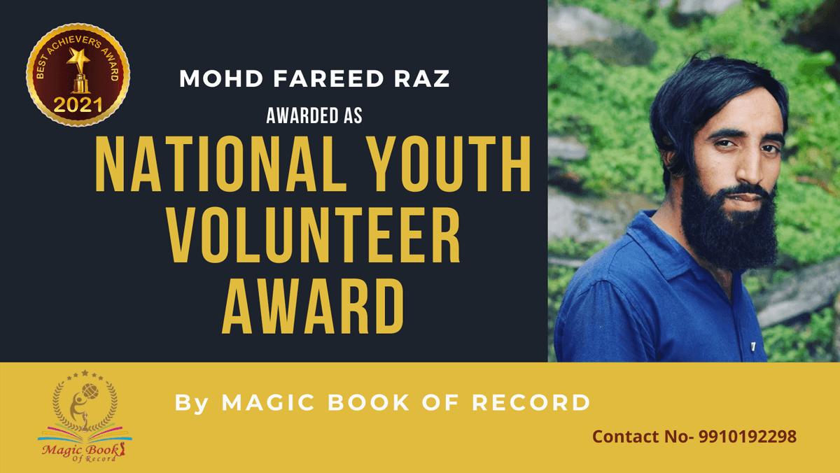 Mohd Fareed Raz-Jammu and Kashmir-Magic Book of Record