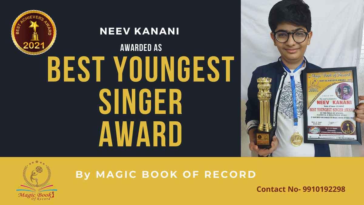 Neev Kanani-Singer-Gujarat-Magic Book of Records