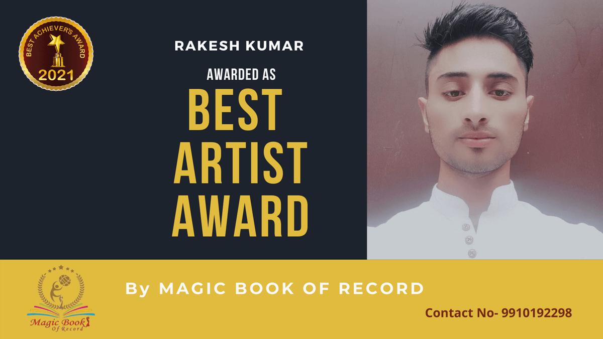 Rakesh Kumar-Jammu and Kashmir-Magic Book of Record