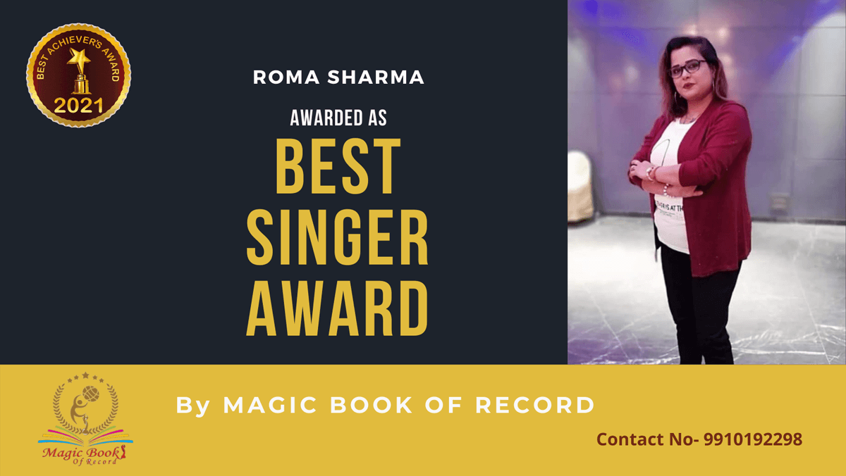 Roma Sharma-Uttar Pradesh-Magic Book of Record